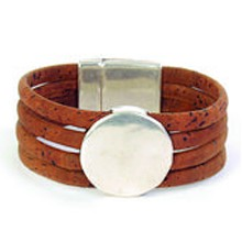 Bracelet - Brown with Silver Button