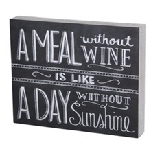 Box Sign - Without Wine