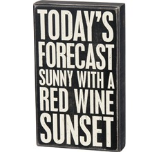 Box Sign - Wine Red Sunset