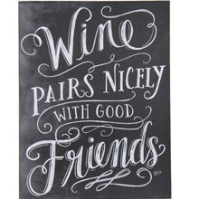 Chalk Sign - Wine Pairs