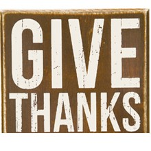 Box Sign - Give Thanks