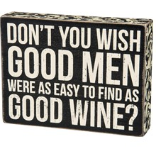 Box Sign - Good Men