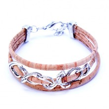 Bracelet - Beige with Thin Chain