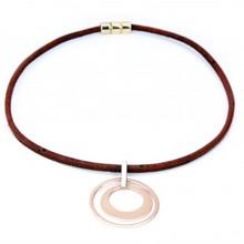 Necklace - Brown Moving Circles