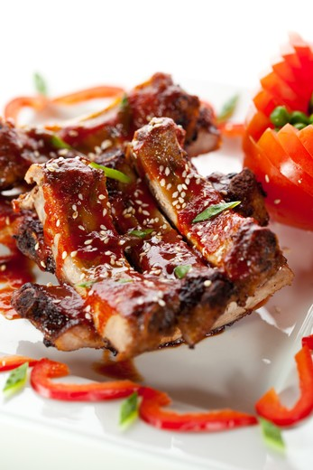 Grilled Asian Marinated Baby Back Ribs