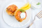 Crab Cakes with Fresh Lemon Dressing